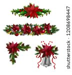 christmas elements for your... | Shutterstock .eps vector #1208698447