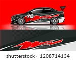 sport sedan and hatchback... | Shutterstock .eps vector #1208714134