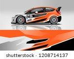 sport sedan and hatchback... | Shutterstock .eps vector #1208714137