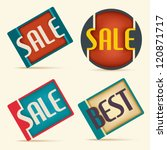 set of label sale and best | Shutterstock .eps vector #120871717