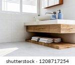 3d rendering  the sink in the...   Shutterstock . vector #1208717254