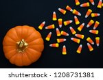Orange Ceramic Pumpkin With A...