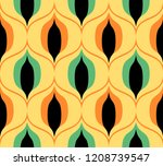 seamless retro pattern in the... | Shutterstock .eps vector #1208739547