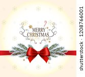merry christmas and happy new... | Shutterstock .eps vector #1208766001
