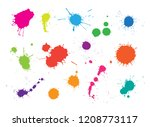 vector paint splashes.paint... | Shutterstock .eps vector #1208773117