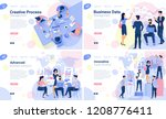 flat design  web page template... | Shutterstock .eps vector #1208776411