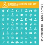 doctor and medical vector icon... | Shutterstock .eps vector #1208777497