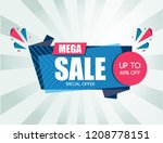 sale banner design. vector... | Shutterstock .eps vector #1208778151