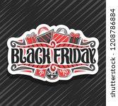 vector logo for black friday ... | Shutterstock .eps vector #1208786884