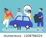 people fueling the car with... | Shutterstock .eps vector #1208788324