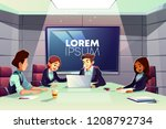 multinational team of business... | Shutterstock .eps vector #1208792734