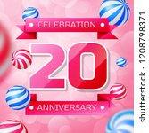 realistic twenty years...   Shutterstock .eps vector #1208798371