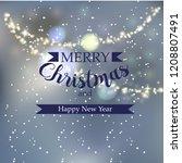 beautiful winter greeting... | Shutterstock .eps vector #1208807491