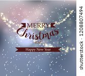 beautiful winter greeting... | Shutterstock .eps vector #1208807494