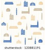 Stockholm seamless pattern