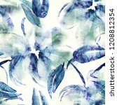 floral seamless pattern.... | Shutterstock . vector #1208812354