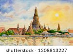 Panorama View. Wat Arun Temple...