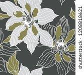 beautiful seamless floral... | Shutterstock .eps vector #1208818621