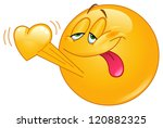 Emoticon In Love With Heart...