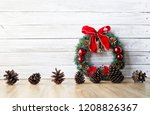 Christmas Wreath With Pine...