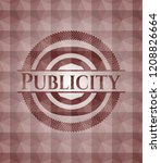 publicity red emblem with... | Shutterstock .eps vector #1208826664