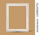 carved vintage frame made of... | Shutterstock .eps vector #1208826721