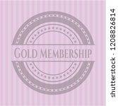 gold membership vintage pink... | Shutterstock .eps vector #1208826814