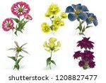 2d illustration. decorative... | Shutterstock . vector #1208827477