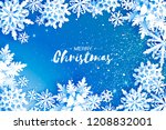 merry christmas and happy new...   Shutterstock . vector #1208832001