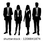 vector silhouettes people  men... | Shutterstock .eps vector #1208841874