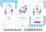 the development team is working ... | Shutterstock .eps vector #1208844244