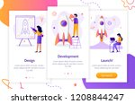 stages of launching a startup.... | Shutterstock .eps vector #1208844247