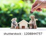 saving money  home loan ... | Shutterstock . vector #1208844757