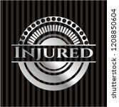 injured silver shiny badge | Shutterstock .eps vector #1208850604