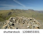 crinkle crags from summit of... | Shutterstock . vector #1208853301