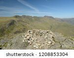 crinkle crags from summit of... | Shutterstock . vector #1208853304