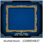 decorative vintage frame and... | Shutterstock .eps vector #1208854837