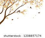 autumn season with falling...   Shutterstock . vector #1208857174