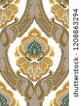 vector damask seamless pattern... | Shutterstock .eps vector #1208863294
