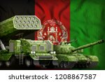 tank and rocket artillery with... | Shutterstock . vector #1208867587