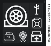 set of 6 new outline icons such ... | Shutterstock .eps vector #1208874511
