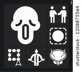 set of 6 human filled icons... | Shutterstock .eps vector #1208875564
