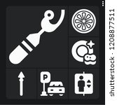 set of 6 nobody filled icons... | Shutterstock .eps vector #1208877511