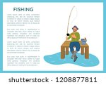 Fishing Poster With Fisherman...