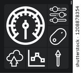 set of 6 arrow outline icons... | Shutterstock .eps vector #1208878354