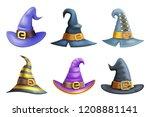 witch hat halloween children... | Shutterstock .eps vector #1208881141
