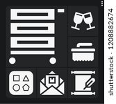set of 6 art filled icons such... | Shutterstock .eps vector #1208882674