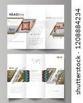 tri fold brochure business... | Shutterstock .eps vector #1208884234
