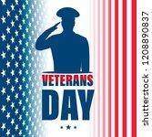 veterans day. american... | Shutterstock .eps vector #1208890837
