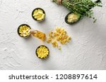 many different pills with... | Shutterstock . vector #1208897614